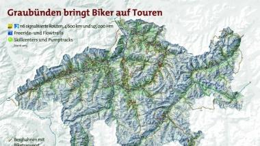 Konzept graubündenMobil und Umsetzung graubündenBIKE (NRP-Projekt von 2010 bis 2014)